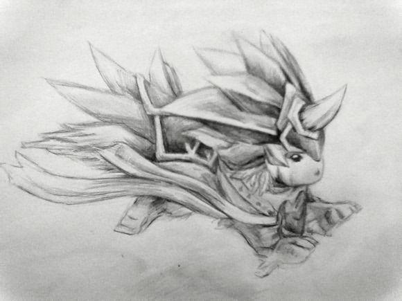 素描狼头手绘图步骤